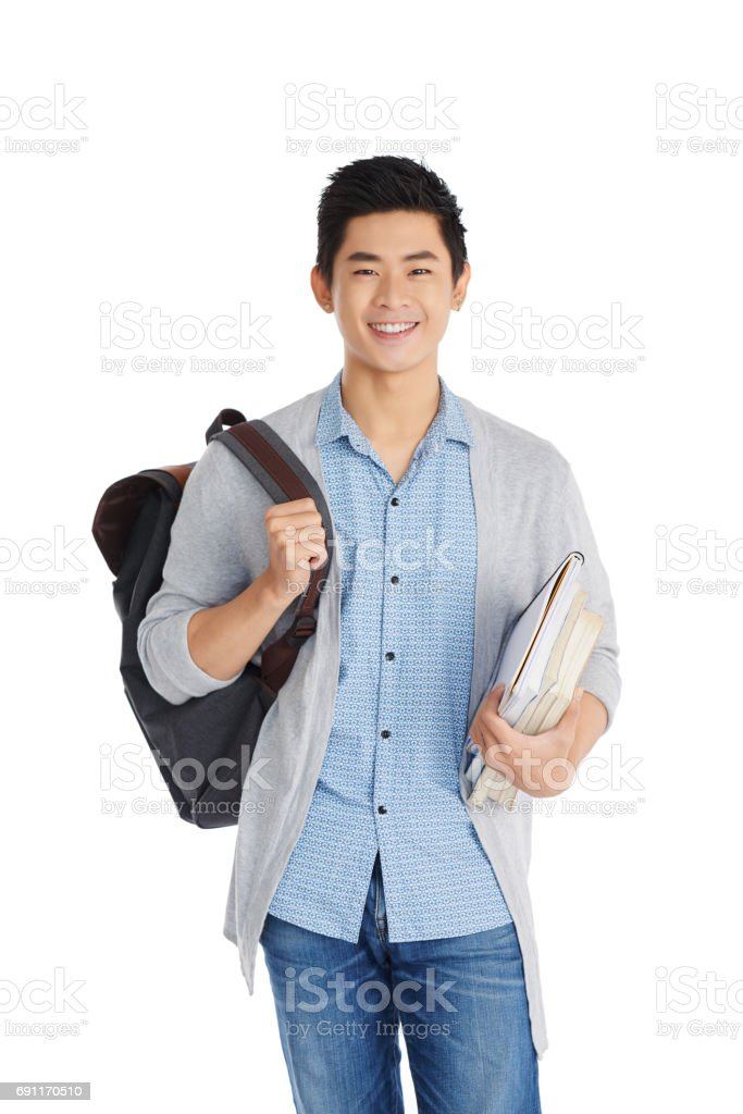 Portrait of Handsome Vietnamese Student stock photo