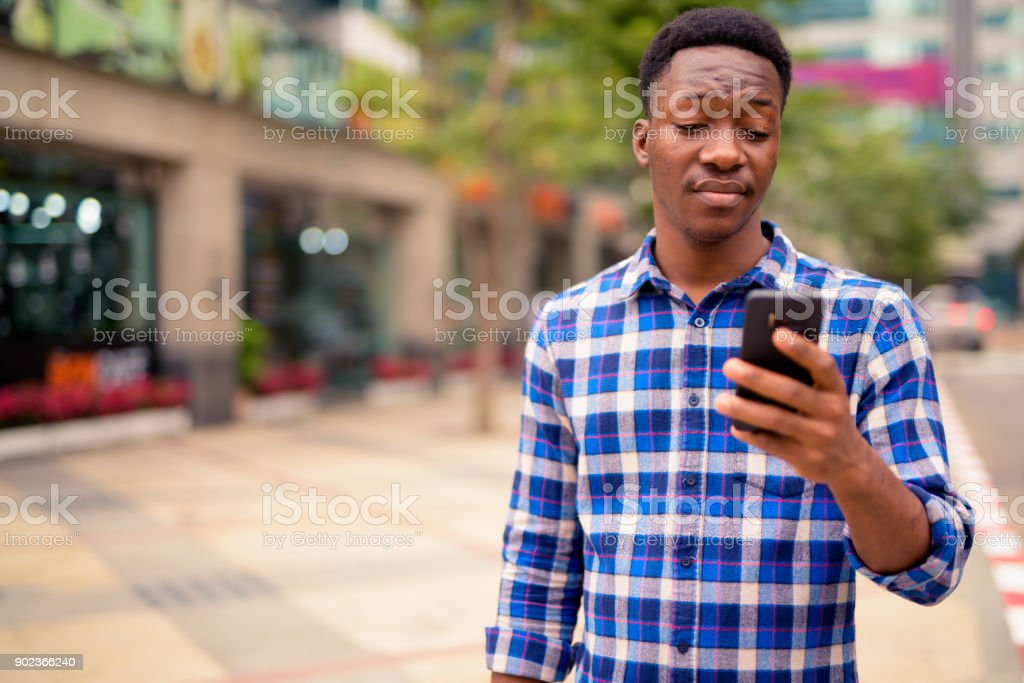 Portrait Of Handsome Young African Man royalty-free stock photo