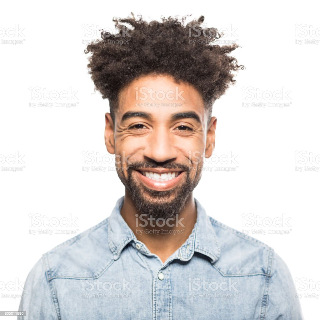 Portrait of handsome young african man smiling royalty-free stock photo