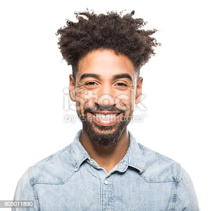istock Portrait of handsome young african man smiling 805011890