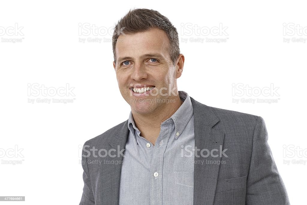 Portrait of handsome young businessman stock photo