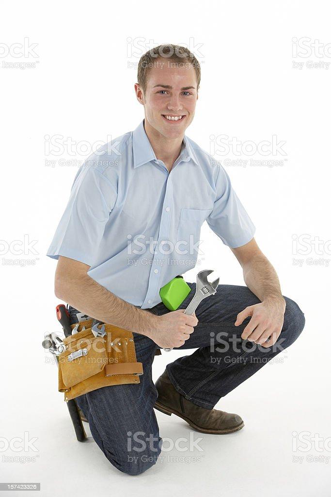 Portrait Of Handyman royalty-free stock photo
