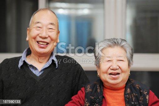 istock Portrait of Happy Asian Senior Couple 157590133