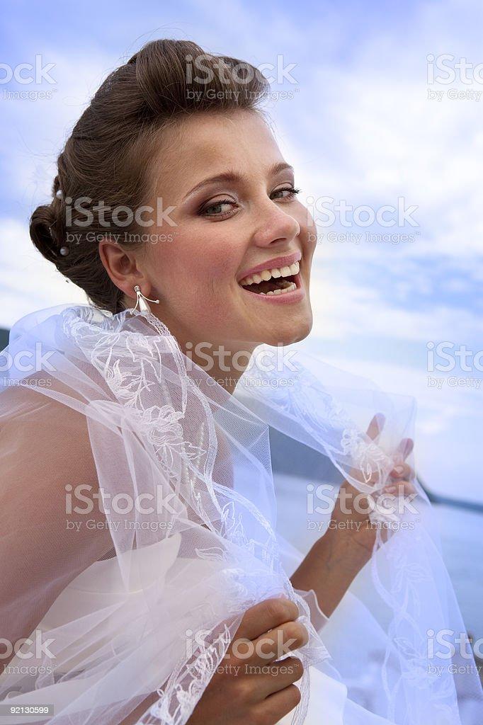 Portrait of Happy Bride. XXXL royalty-free stock photo