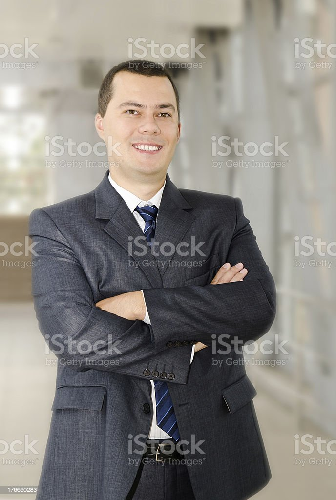 Portrait of happy confident young businessman royalty-free stock photo