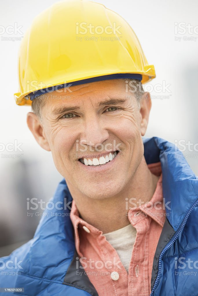 Portrait Of Happy Construction Worker royalty-free stock photo