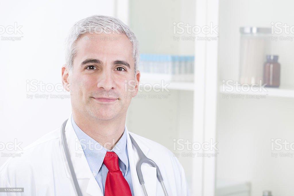 Portrait Of Happy Doctor royalty-free stock photo