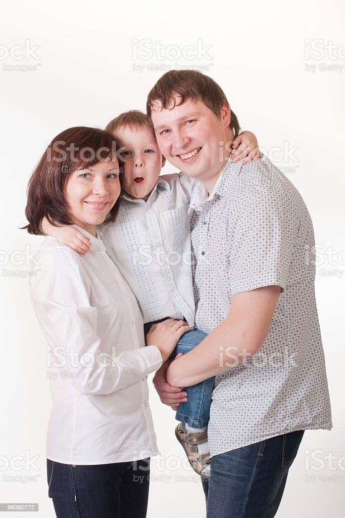 portrait of happy family royalty-free stock photo