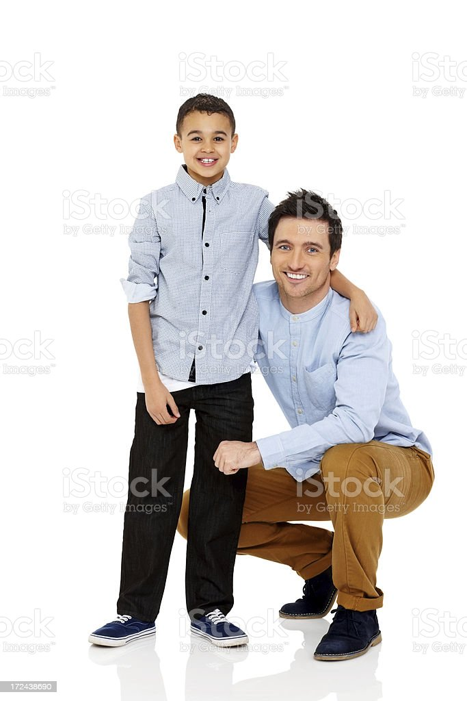 Portrait of happy father and son together royalty-free stock photo