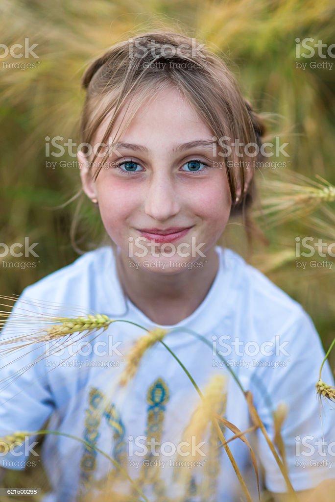 Ritratto di felice femmina  foto stock royalty-free