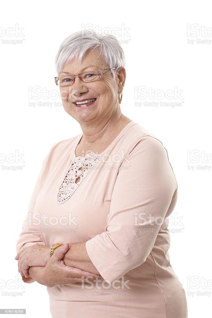 Porträt der glückliche Großmutter – Foto