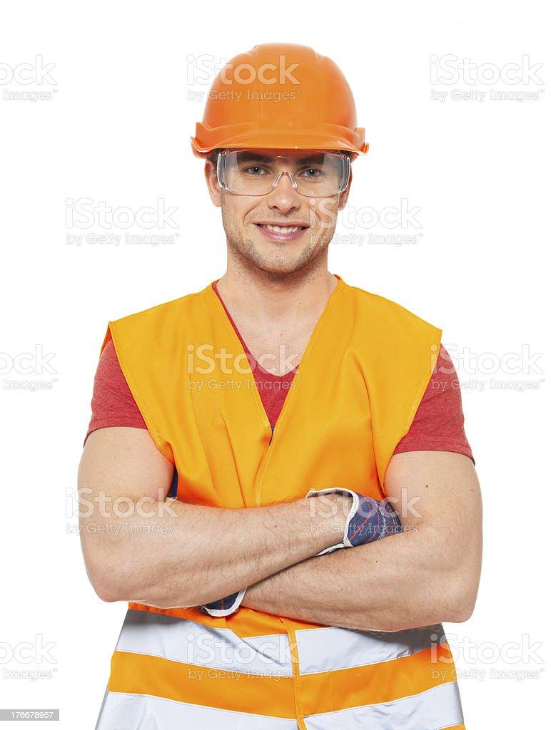 Retrato de feliz manitas en uniforme foto de stock libre de derechos