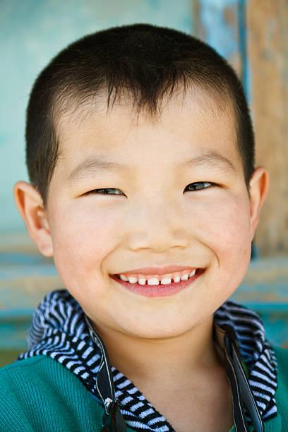 portrait of happy little Chinese boy