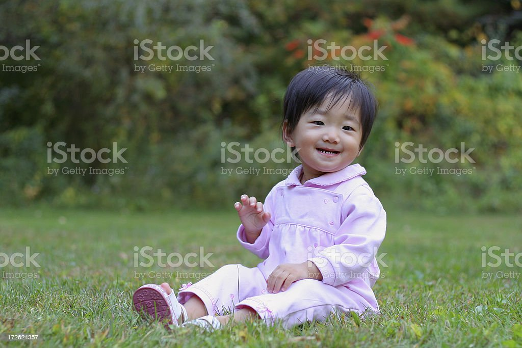 Portrait of happy little girl royalty-free stock photo
