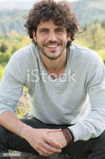 istock Portrait Of Happy Man 492548455