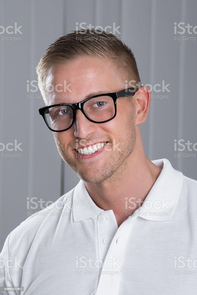 Portrait d'un homme heureux photo libre de droits