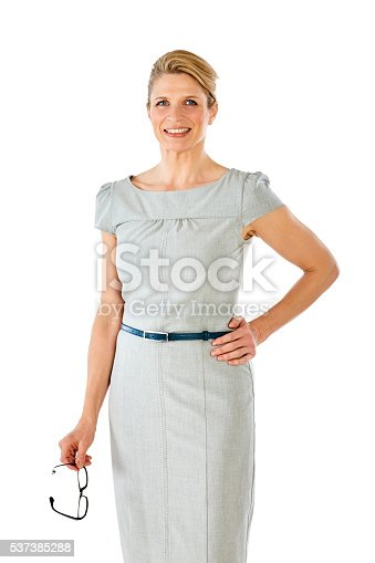 1150572074istockphoto Portrait of happy mature business woman 537385288