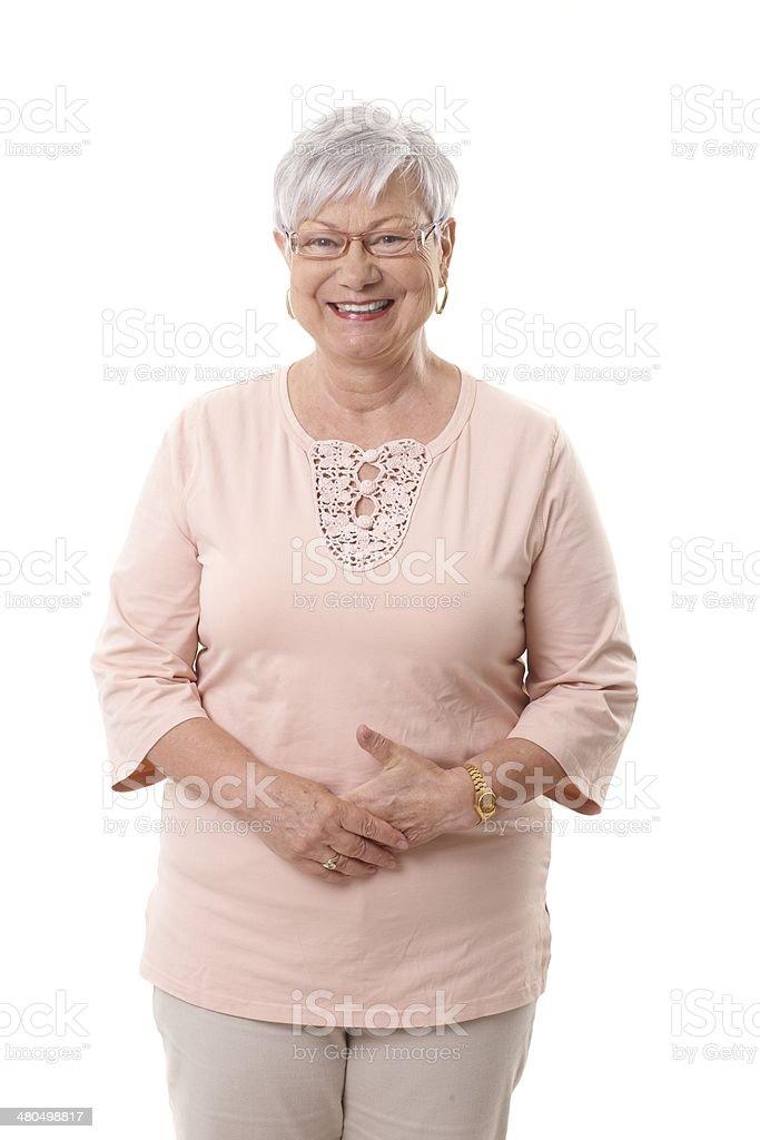 Porträt von glücklich Reife Frau – Foto
