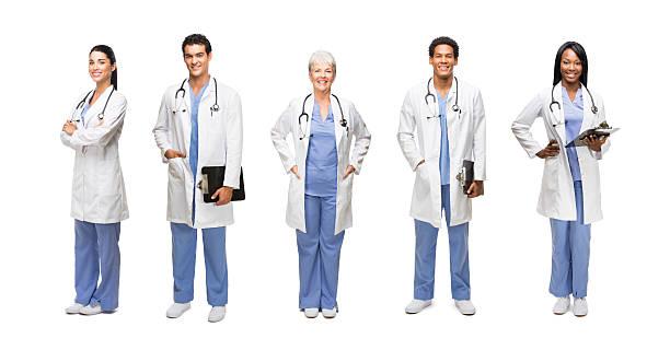 Porträt von glücklich medizinischen Experten – Foto