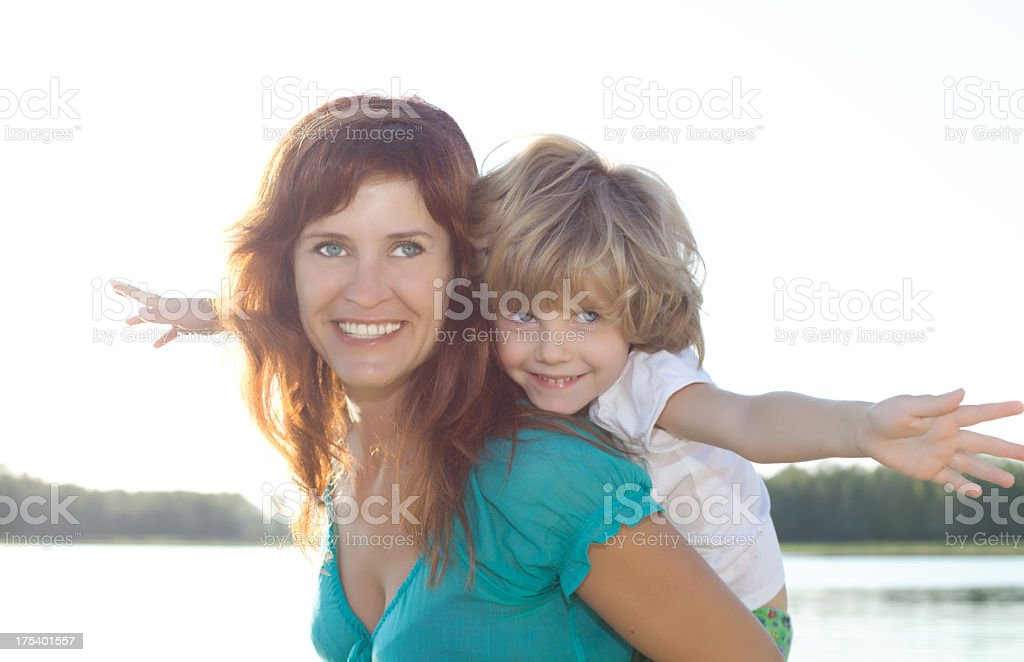 Portrait of happy mother and daughter. royalty-free stock photo