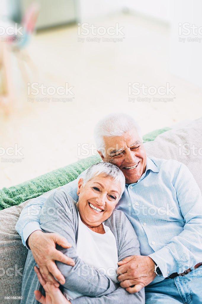 Porträt von glücklichen senior Paares – Foto