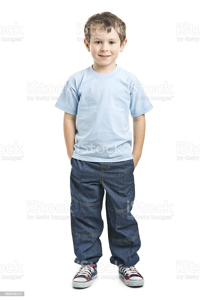 portrait of happy small boy stock photo
