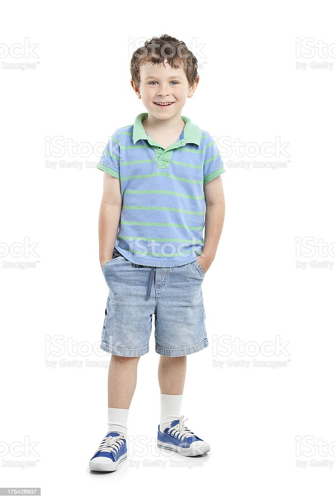 portrait of happy small boy stock photo