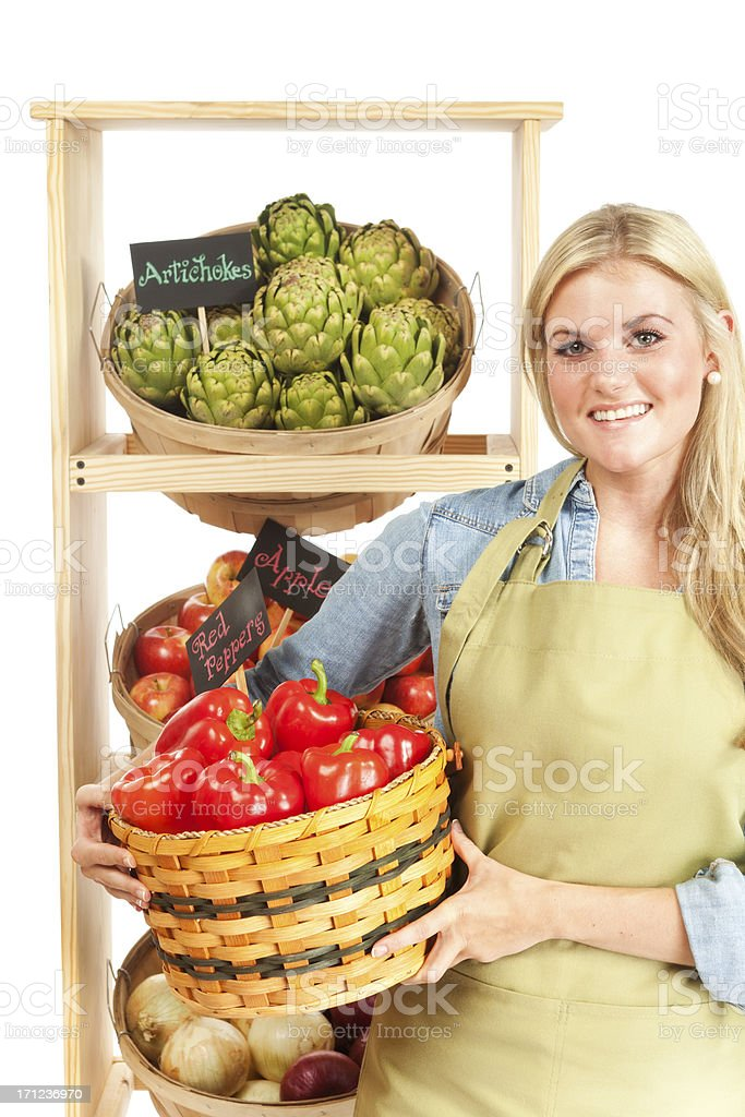 Portrait of Happy Small Business Grocery Store Owner royalty-free stock photo