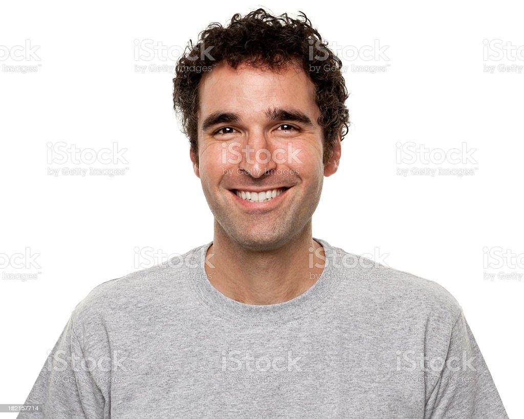 Portrait of Happy Smiling Man stock photo