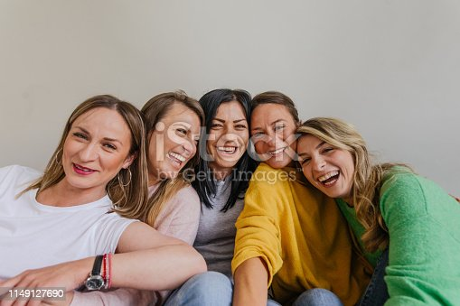 Portrait of happy, smiling women