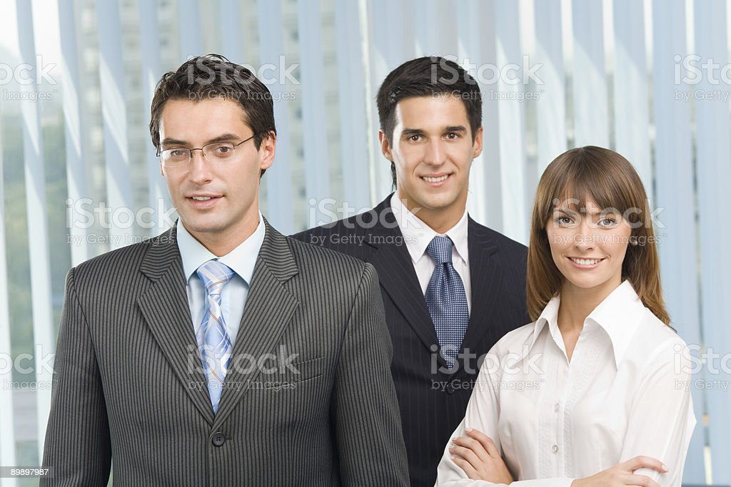 Portrait of happy successful business team at office royalty-free stock photo