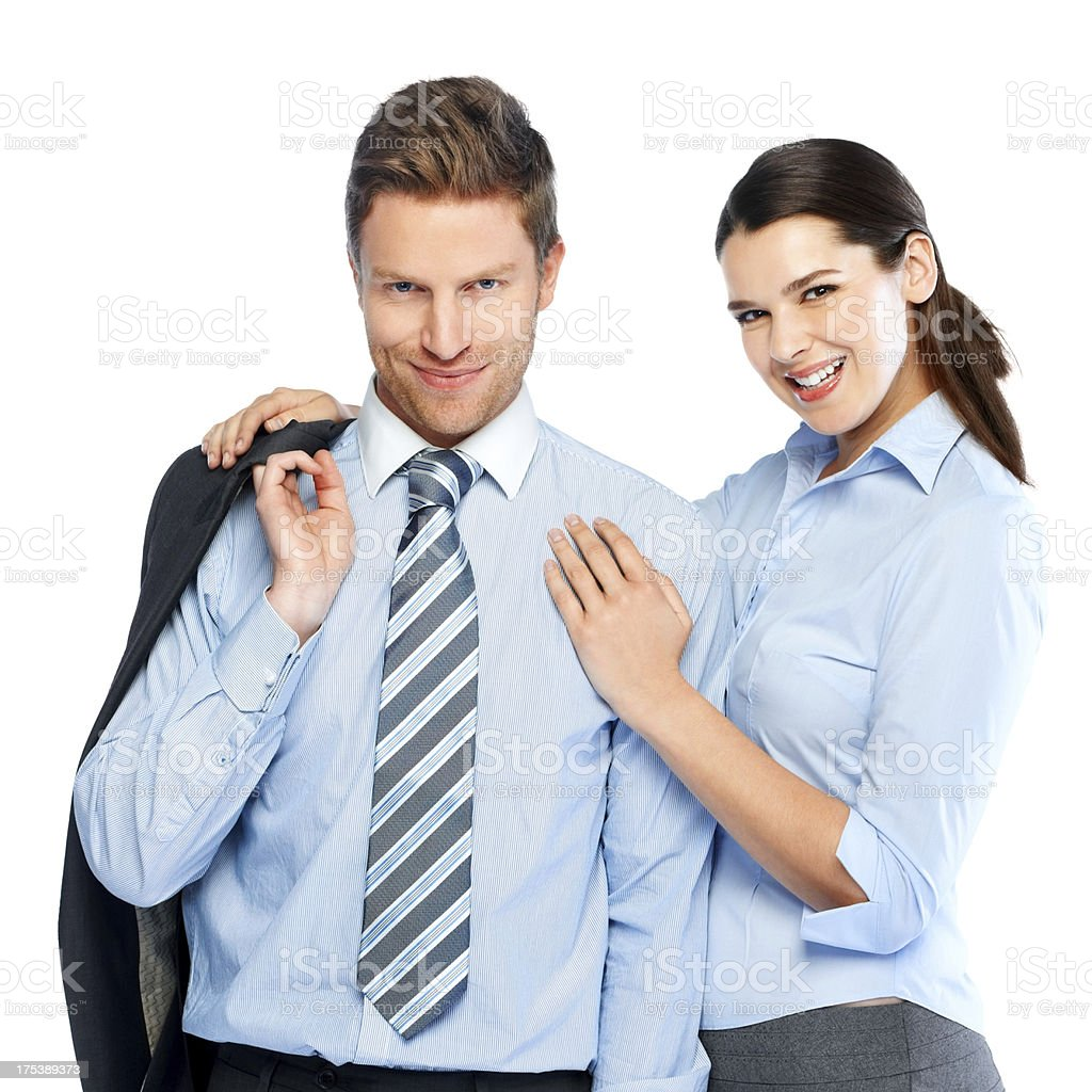 Portrait of happy young business people royalty-free stock photo
