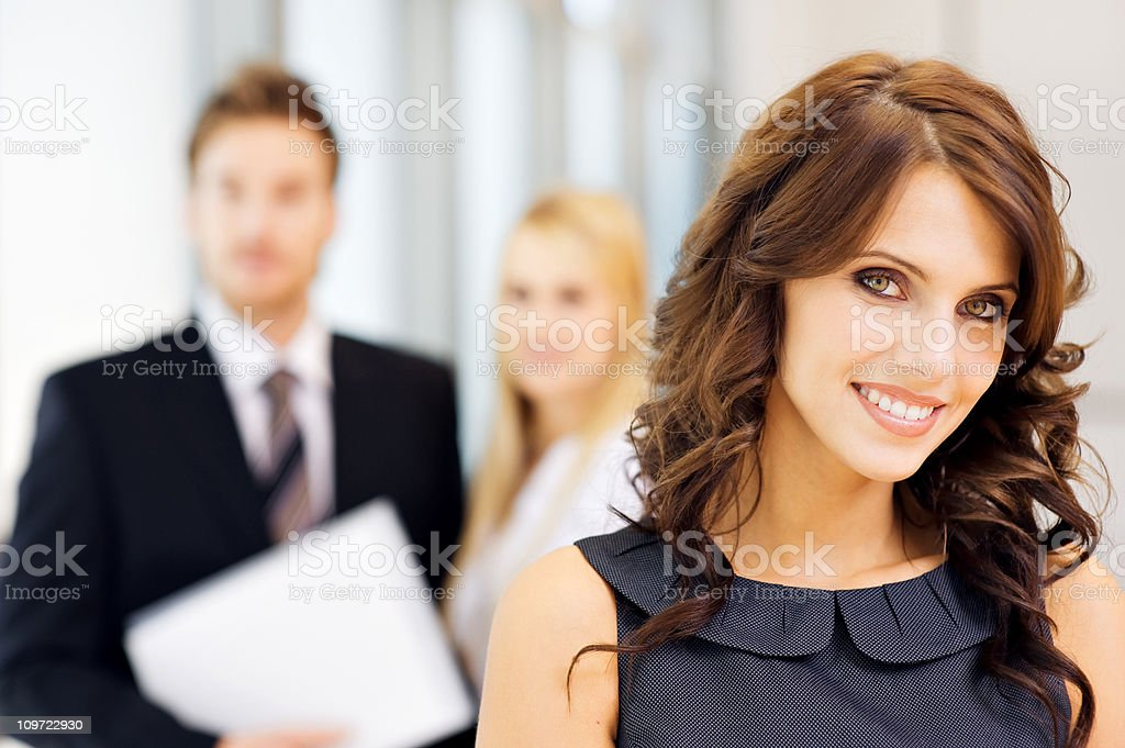Portrait of happy young businesswoman royalty-free stock photo