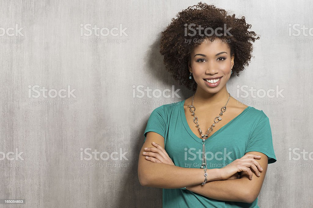 Portrait Of Happy Young Woman stock photo