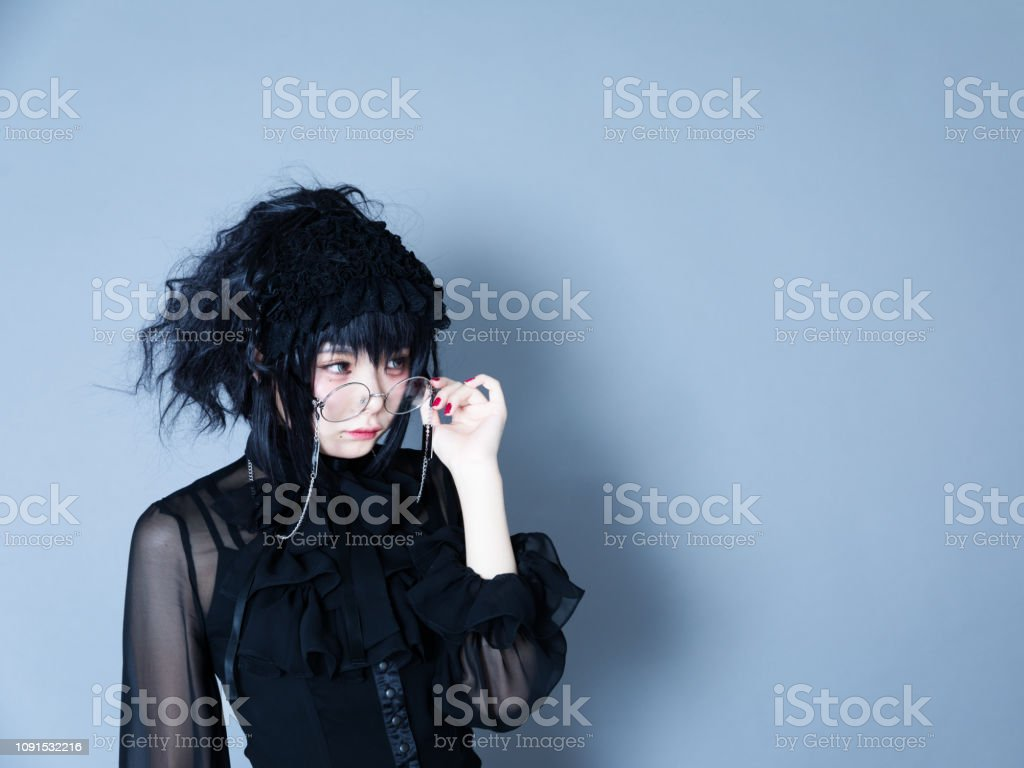 Portrait Of Harajuku Style Young Japanese Woman Stock Photo & More
