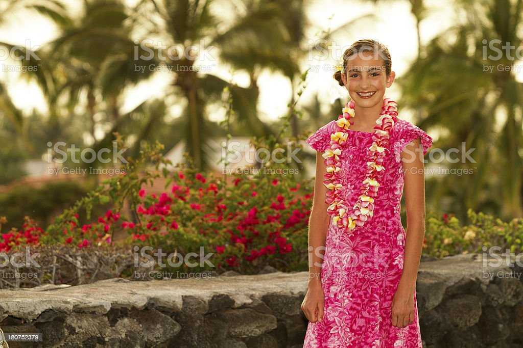 Portrait of Hawwaiian Beauty royalty-free stock photo