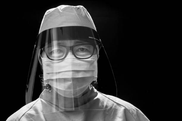 portrait of Healthcare Worker wearing face shield