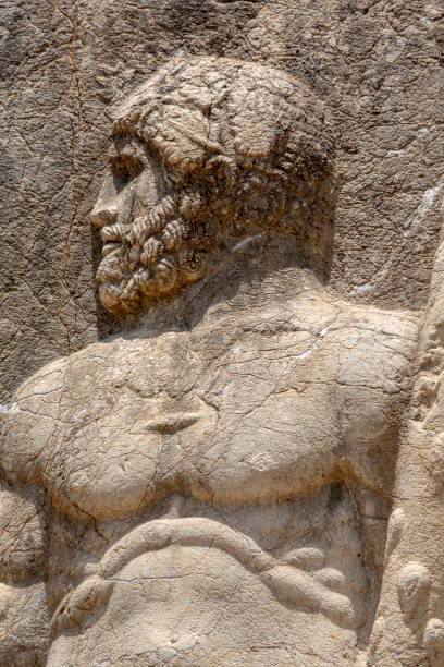 Portrait of Heracles in Arsameia ancientcity stock photo
