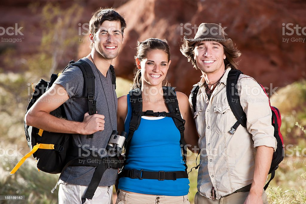 Portrait of Hiking Friends royalty-free stock photo