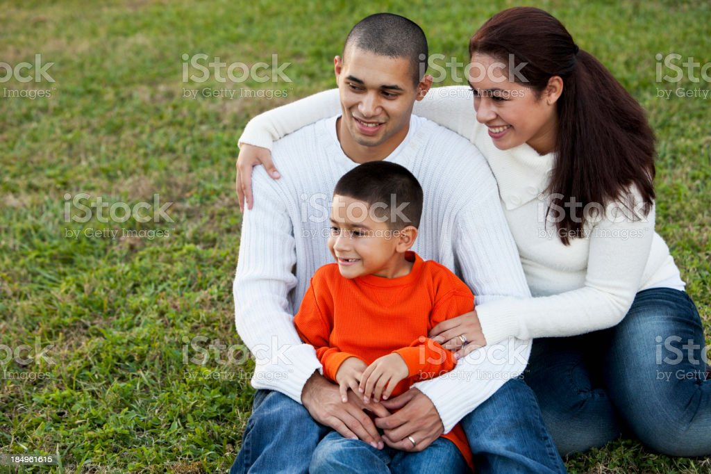 Portrait of Hispanic family royalty-free stock photo