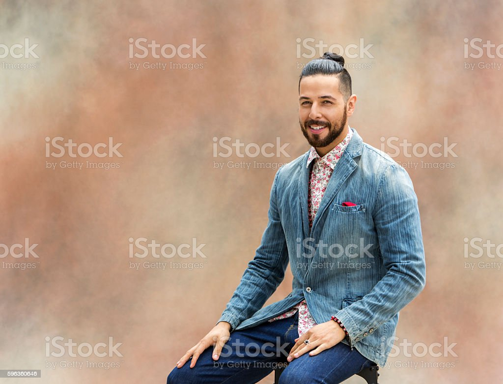 Portrait of Hispanic Male royalty-free stock photo