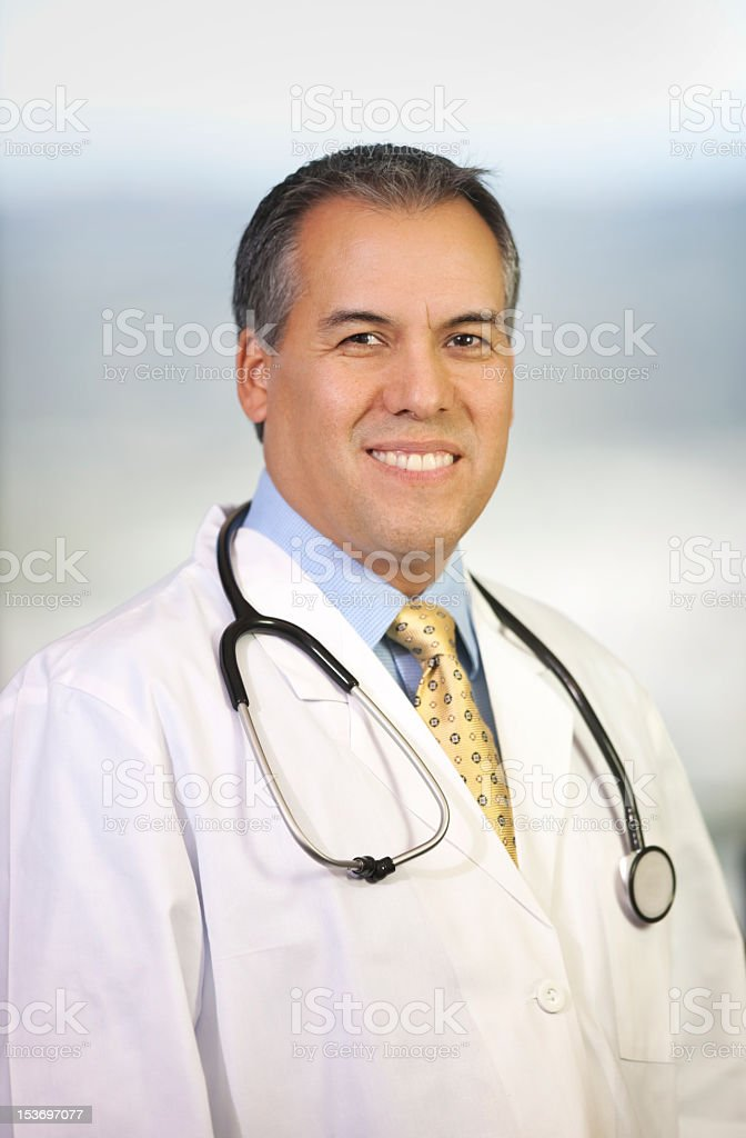Portrait of Hispanic Medical Doctor royalty-free stock photo