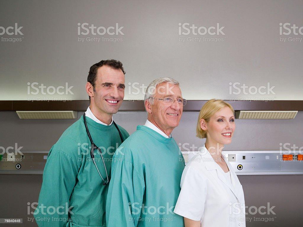 Portrait of hospital staff royalty-free stock photo