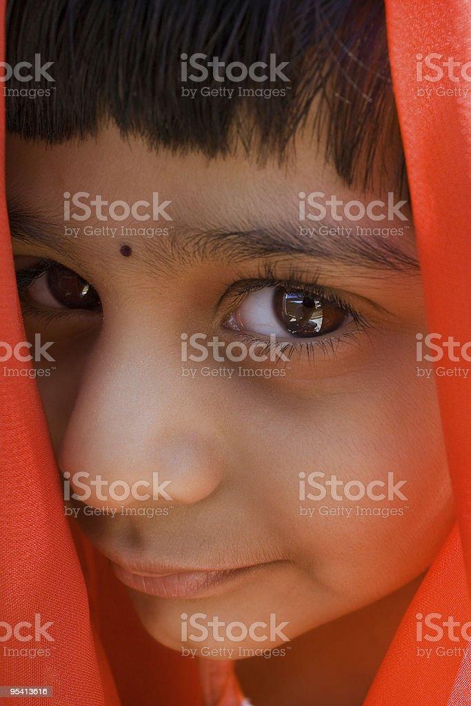 Porträt der indischen Mädchen Lizenzfreies stock-foto