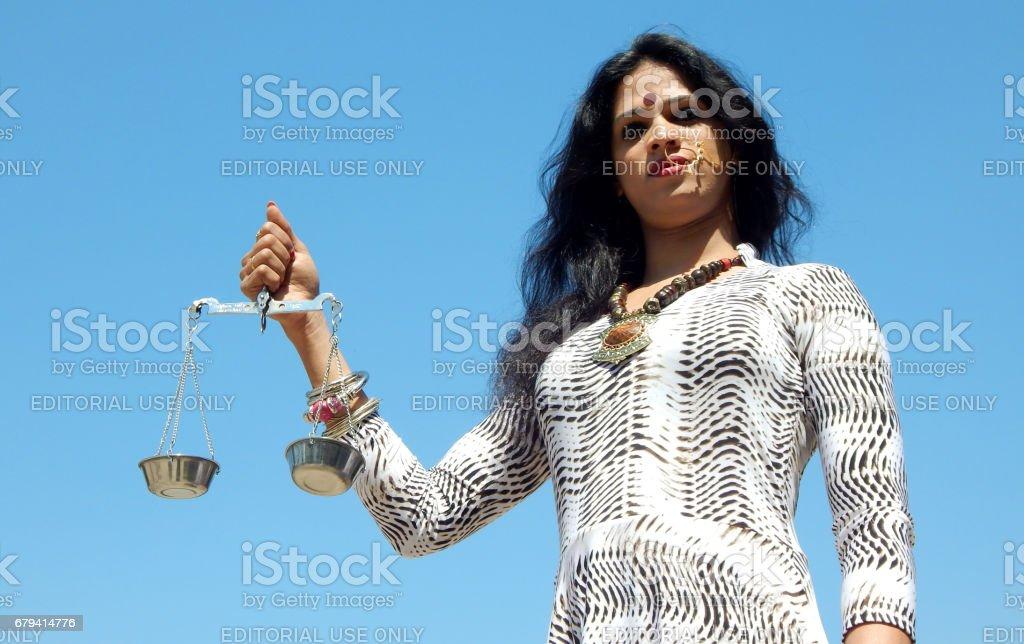 Portrait of indian LGBT activist photo libre de droits