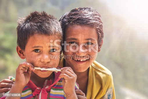 941788480 istock photo Portrait of Indian Little Boy with Ice Cream 1033745606