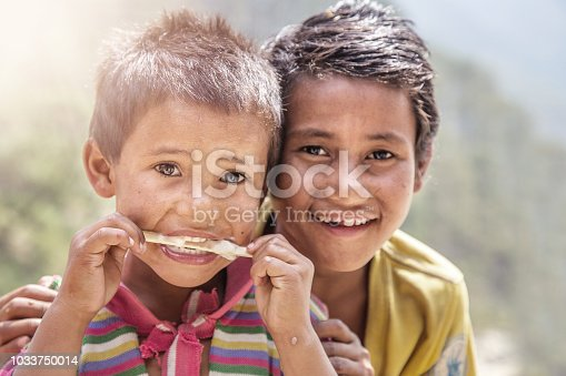 941788480 istock photo Portrait of Indian Little Boy with Ice Cream 1033750014