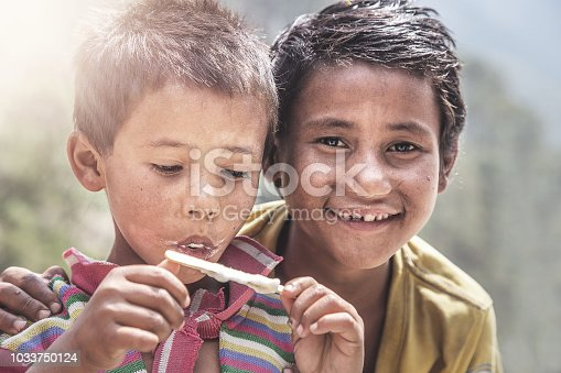 941788480 istock photo Portrait of Indian Little Boy with Ice Cream 1033750124