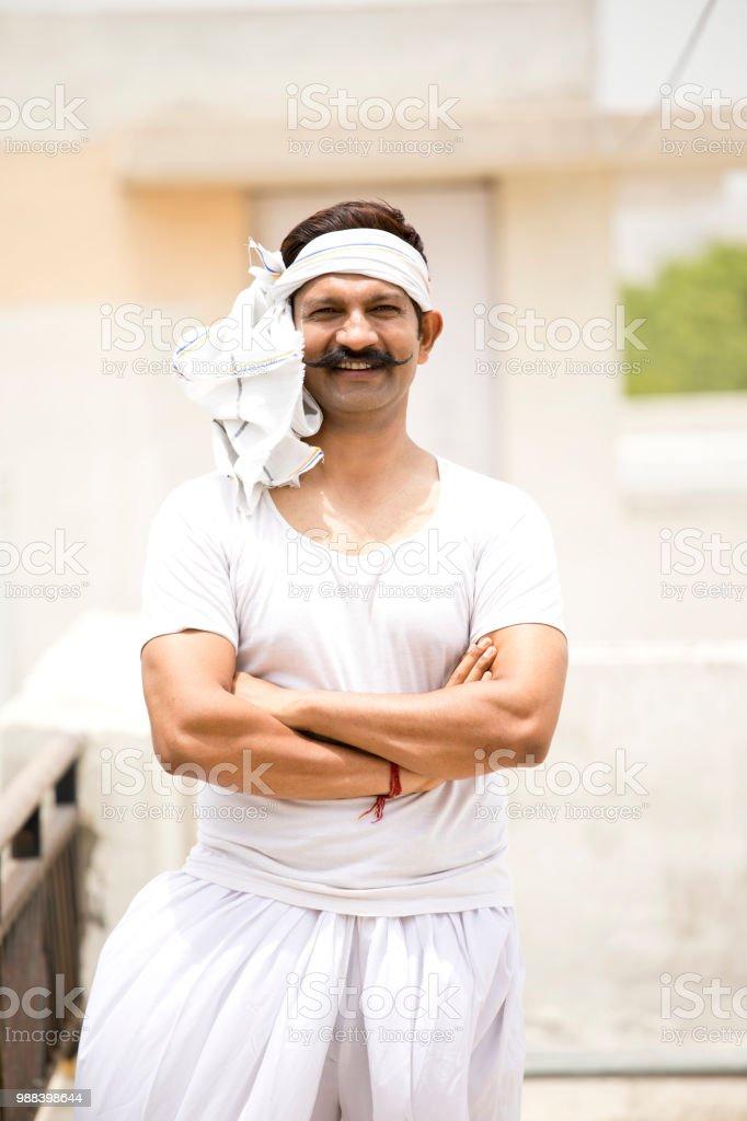 Porträt der indischen Mann – Foto