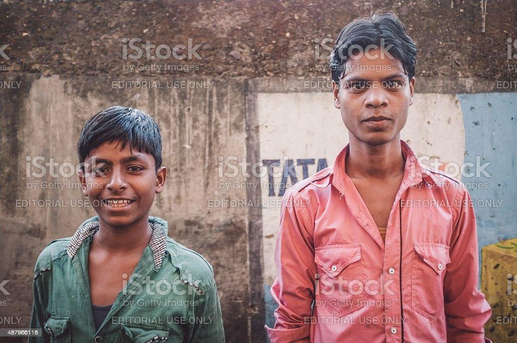 Portrait of Indian men stock photo